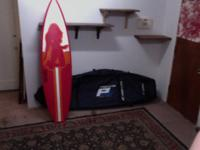 Isle short surfboard & a Pro-Lite international wheeled