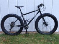 "Surly Pugsley Fat Bike, 16"" SM frame. Like new"