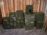 I have numerous size government surplus storage cans