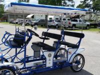 Surrey Limousine Deluxe (4 pedaler) 4 wheel bike