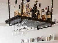 Suspended Hanging Bar / Shelf custom made from Pipes