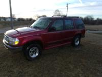 Ford explorer v6, 4x4, auto, estimated 200k plus miles,