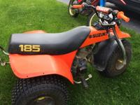 Suzuki 3 wheeler. Great shape. Pull starts easy. 4