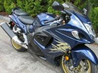This Hayabusa is an all Black example with aftermarket,