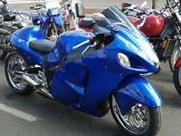 2007 Suzuki Hyabusa 1300GSXR fuel: gas paint color: