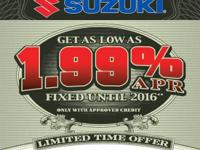 Description Make: Suzuki Year: 2011 Condition: New