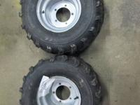 FOR SALE IS A SET OF REAR WHEELS AND TIRES OFF OF A