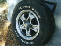 Slotted spoke Suzuki or equivelant steel rims painted