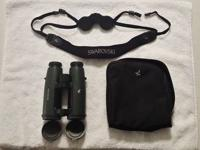 A like new set of Swarovski 8.5 x 42 EL Binoculars.