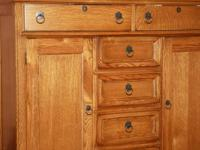 Large Medium Oak Sweater Dresser  475.00  Very nice  1