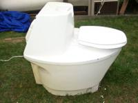 Used Quality Swedish built composting toilet for camp,