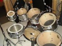 7pc DW drum kit for sale, plus misc. drum and stage