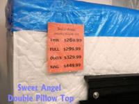 "Sweet Angel Double Pillow Top ""Jumbo"" Twin Set (M/B)"