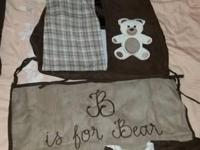 Used Sweet Jojo Designs Teddy Bear 7-piece Crib Bedding
