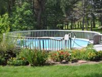 This is a free standing swimming pool (aluminum)sides &
