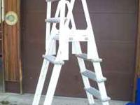 "Swimming pool ladder. Will work with 54"" walls. Call"
