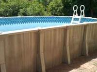 Above ground pool purchased from Marina Pools in