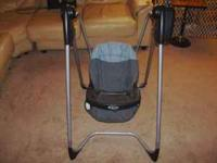 Blue Graco baby swing. In good shape, asking $10. If