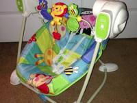 Fisher Price Discover and Grow Swing and Seat. $40
