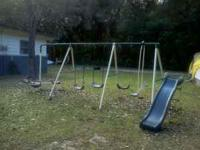 Big swing set.. pretty decent shape... would make good