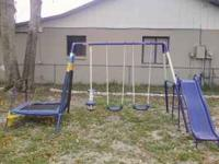 This swing set is practically brand new only 1 year old