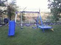 METAL SWING SET JUST BOUGHT LAST YEAR AND MY SON HAS