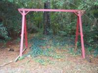 swing set. great condition. you can hang two swings