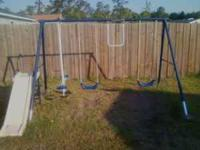 toddler swing set excellent condition call  for more