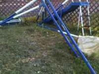 Child swing set with slide $75 call  Location: