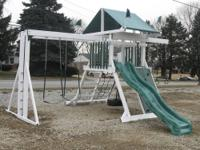 We sell brand new swing set parts and sliding boards at