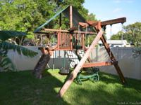 SWING SET, REDWOOD WOODPLAY OUTBACK FULLY LOADED.