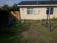 Swing Set with: 2 Swings, Teeter Tot, Monkey Bar and