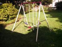 Swing set in good shape. Comes with some anchors, can