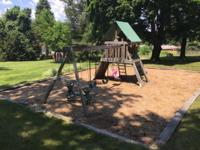 Swing set Total length 27' long X 12' wide X 11' high