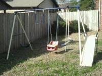 Swingset is being sold because no one is using it. It