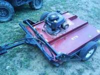 Swisher pull behind brush hog. Excellent condition 12.5
