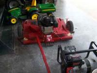 Swisher pull behind finishing mower with 8 HP Briggs