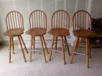 I HAVE 4 SWIVEL BAR STOOLS FOR SALE. MY LAST APPARTMENT