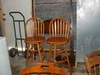 Swivel Bar Stools, Good Condition, $50 for the pair,