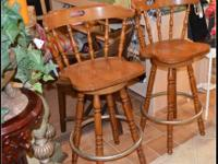 The bar stools are 55.OO each. CONSIGNMENT SHOP OPENED