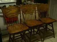 I have 3 swivel oak barstools. They are in good