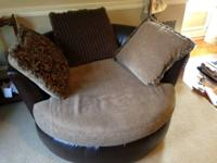 Right here is a love-seat 2 individual swivel chair