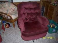 I have a very comfortable swivel rocker for sale due to