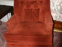 Nice swivel, rocker, side chair in excellent condition.
