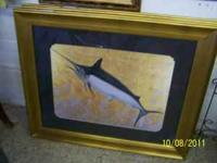 We have a set of swordfish art work. $50 each. If