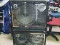 IM SELLING MY BASS AMP AND 2 CAbS. BOTH OF THEM ARE IN
