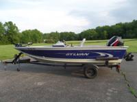 This 16' boat and the 50 HP Mercury 2-Stroke are both