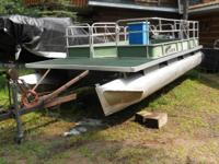 "Sylvan Pontoon, pontoons are19' 8"" long,  16'x8' green"