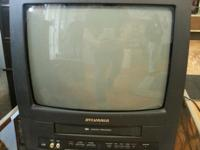 Sylvania 19 inch screen Used Color TV with built in VCR