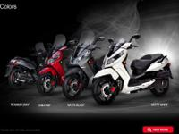 SYM Citycom 300i is a top high-wheel and fuel injection
